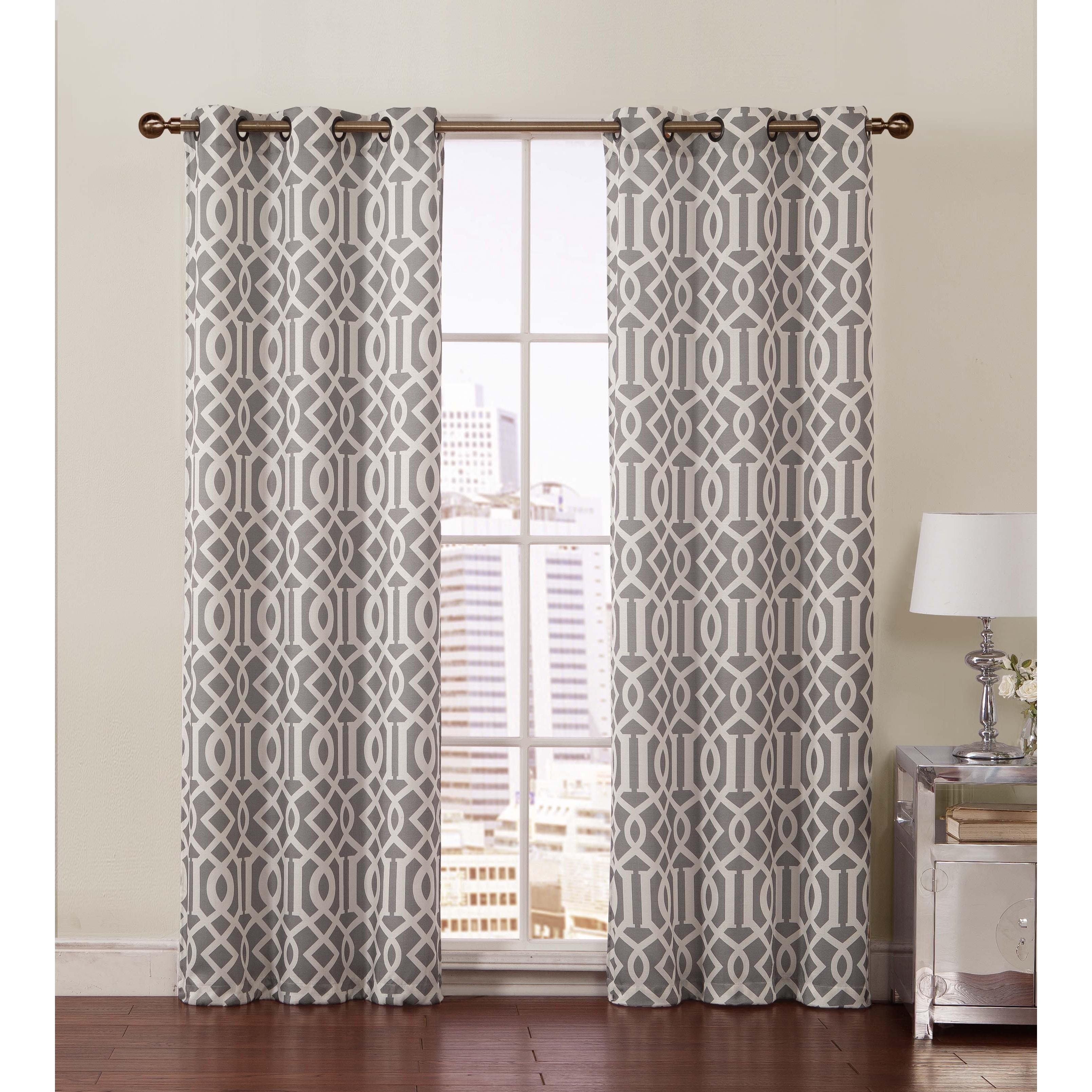 Victoria Classics Aaron Room Grommet Top 84-inch Curtain Panel Pair