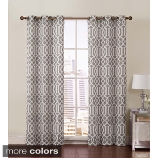 Victoria Classics Aaron Room Grommet Top 84-inch Curtain Panel Pair