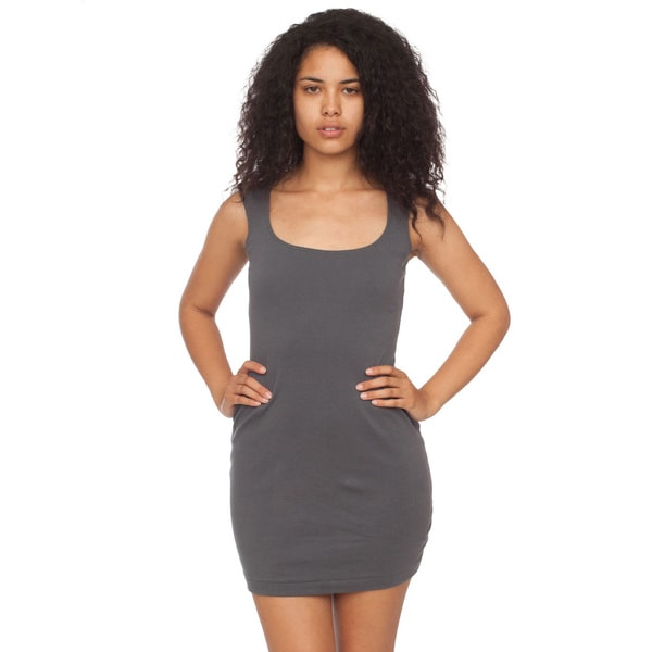 American Apparel Interlock Cut-out Back Mini Dress
