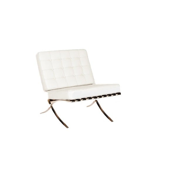 ... Eldon Furniture By Beldon White Leather Armless Chair 17109142  Overstock ...
