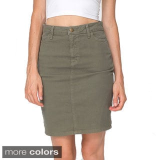 American Apparel Stretch Bull Denim High-waist Slim Skirt