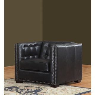 Belarie Black Leather Chair