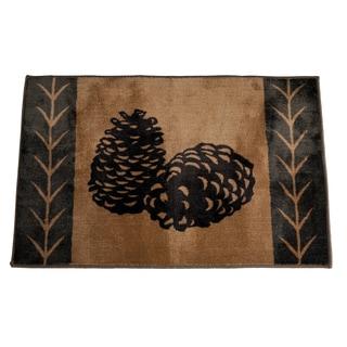 HiEnd Accents Pine Cone Acrylic Rug (2' x 3')