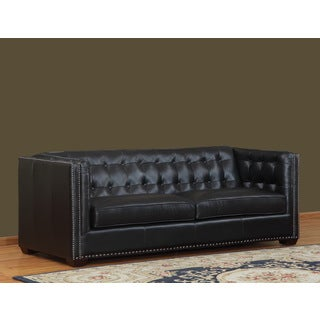 Belarie Leather Sofa by Lazzaro Leather