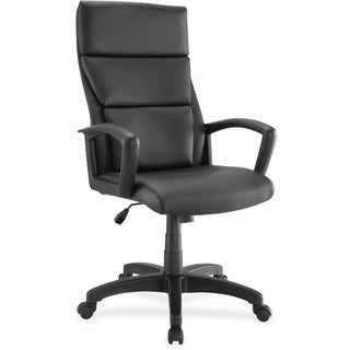Lorell Euro Design Leather Executive High-back Chair