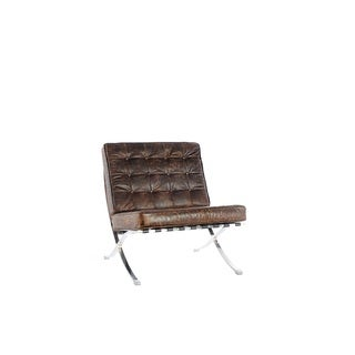 Beldon Chocolate Leather Armless Chair