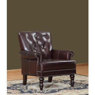 Nixon Leather Tufted Back Arm Chair
