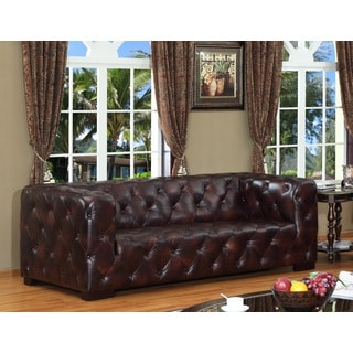 Manhatton Leather Sofa by Lazzaro Leather
