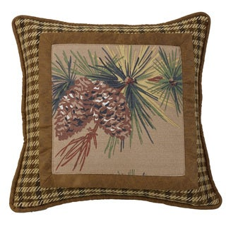 Tweed Pillow with Buckle Detail