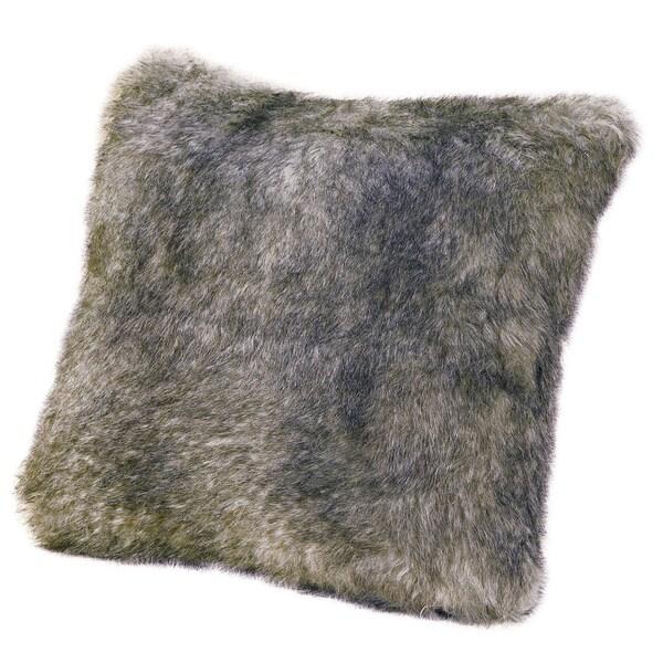 18-inch Faux Fur Chinchilla Pillow