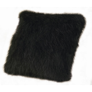 18-inch Faux Fur Black Mink Pillow