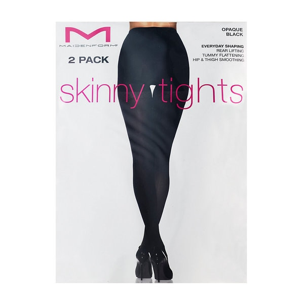 Maidenform Opaque 2-pack Everyday Shaping Skinny Tights 14993492
