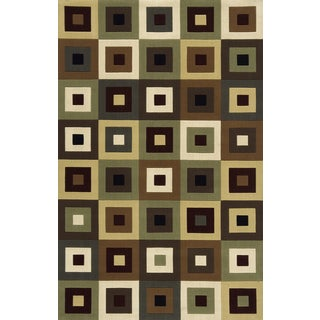 "Soho Blocks Blocks Wool Rug (9'6"" x 13'6)"