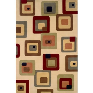 "Momeni Soho Retro Boxes Wool Rug (9'6"" x 13'6)"