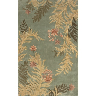 Aubusson Floral Hand-tufted Wool Area Rug (9'6 x 13'6)