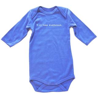 Baby's Blue 'I Will Make A Difference' One-piece Tagless Bodysuit