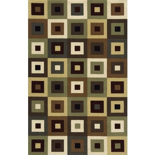 Soho Blocks Wool Area Rug (8' x 11')