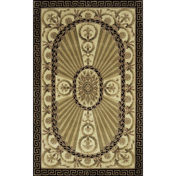 Aubusson Regal Hand-tufted Wool Rug (8' x 11') -  Momeni