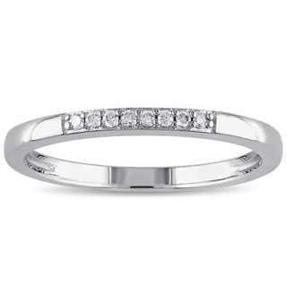 Haylee Jewels Sterling Silver Diamond Accent Wedding Band