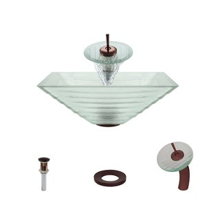 Mr Direct 604 Oil Rubbed Bronze Bathroom Sink and Faucet Ensemble