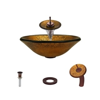 Mr Direct 613 Oil Rubbed Bronze Bathroom Sink and Faucet Ensemble