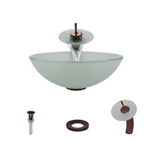 Mr Direct 602 Oil Rubbed Bronze Bathroom Sink and Faucet Ensemble