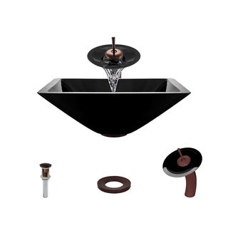 Mr Direct 603 Black Oil Rubbed Bronze Bathroom Sink and Faucet Ensemble