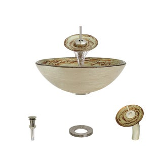 Mr Direct 631 Brushed Nickel Bathroom Sink and Faucet Ensemble