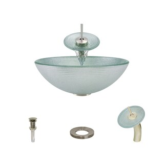 Mr Direct 636 Brushed Nickel Bathroom Sink and Faucet Ensemble