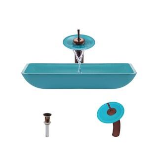 Mr Direct 640 Turquoise Oil Rubbed Bronze Bathroom Ensemble