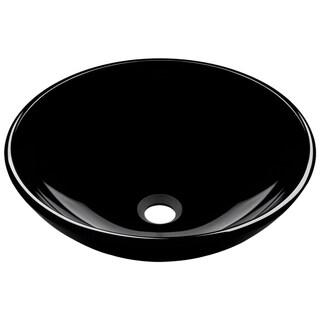 Mr Direct 601 Black Brushed Nickel Bathroom Sink and Faucet Ensemble