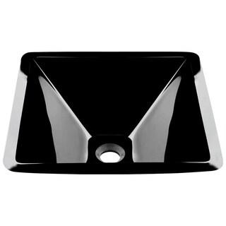 Mr Direct 603 Black Brushed Nickel Bathroom Sink and Faucet Ensemble