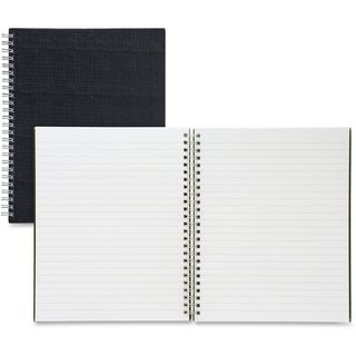 Sparco Twin-wire 9-inch x 7-inch Linen Notebook