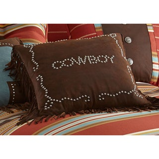 Cowboy 18-inch Studded Pillow