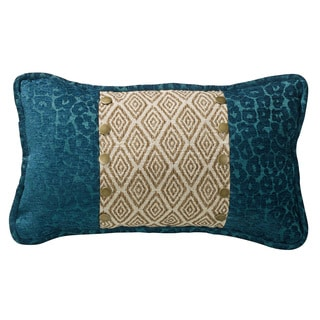 Ikat and Leopard Accent Pillow