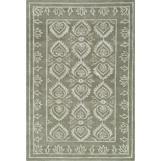 Silk Touch Motif Wool Area Rug (8' x 10')