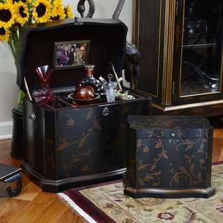 Athenian 'Memory Life' Black Hand-painted Chest