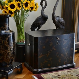 Athenian Life Black Hand-painted Chest