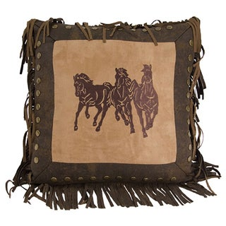 Embroidered 18-inch Running Horse Pillow