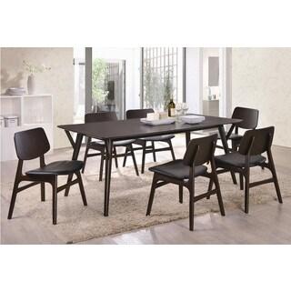 Cafe 7-piece Black Dining Set