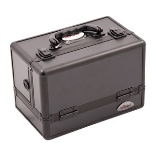 Sunrise 3-Tiers Expandable Trays All Black Makeup Case