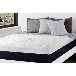 Priage 13-inch Full-size Hybrid Gel Memory Foam/ Spring Mattress and SmartBase Foundation Set
