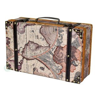 Old World Map Decorative Suitcase Trunk