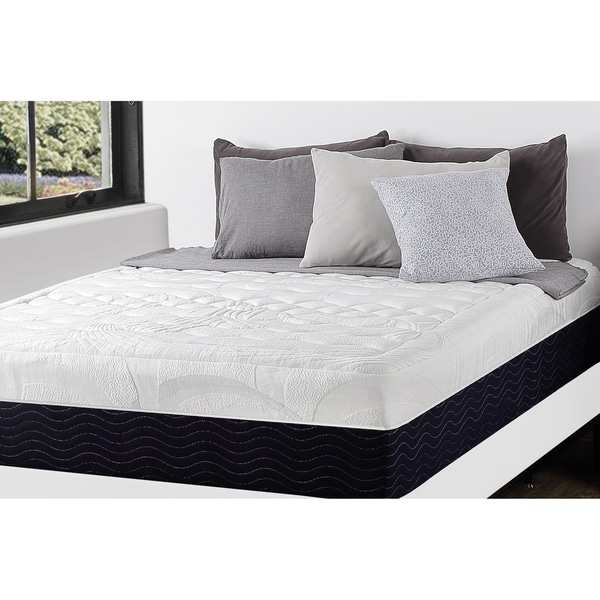 Priage 13-inch Queen-size Hybrid Gel Memory Foam Spring Mattress and SmartBase Foundation Set