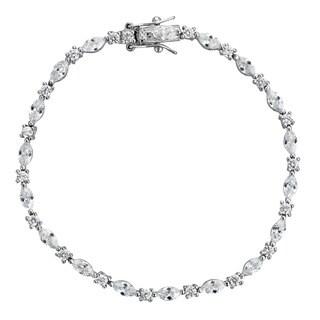 Women's Sterling Silver Micropave Cubic Zirconia Fancy Bracelet