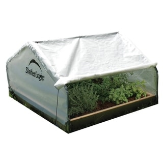 ShelterLogic Peak Raised Bed Roll-up Cover Greenhouse (4 x 4 x 2.33 feet)