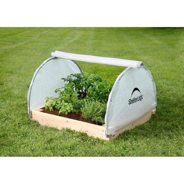 ShelterLogic Round Raised Bed Fully Closable Cover Greenhouse (4 x 4 x 2 feet)