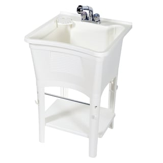 Zenith Ergo Tub Complete Freestanding Utility Laundry Sink Kit