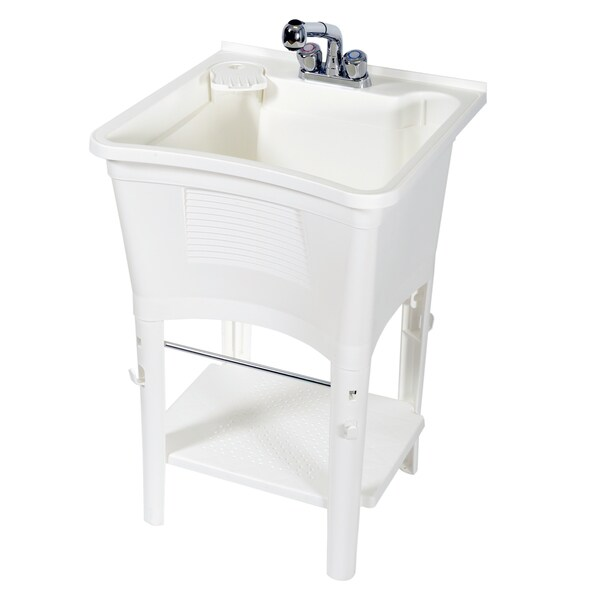 Zenith Ergo Tub Complete Freestanding Utility Laundry Sink Kit ...