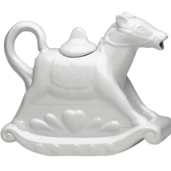 White Horse Tea Pot